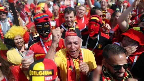 Пъстра палитра на трибуните за Белгия - Тунис