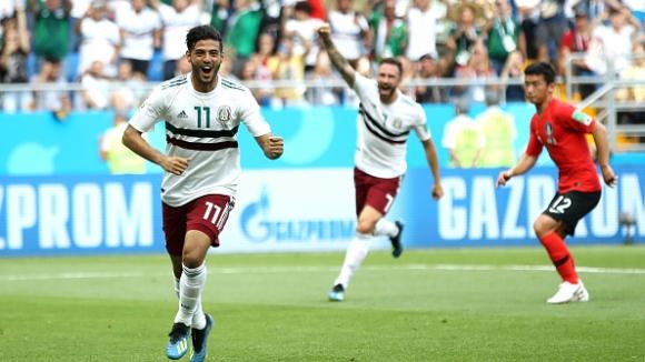 Мексико се класира за втората фаза след победа над Южна Корея