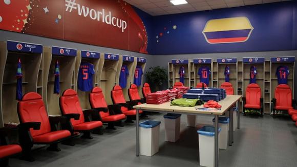 Съставите на Полша и Колумбия преди двубоя на Казан Арена