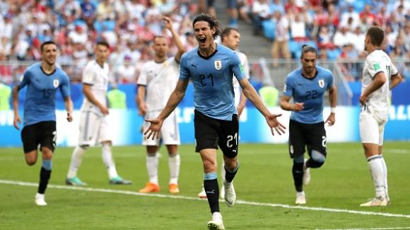 Първи гол за Кавани на Мондиала и 3:0 за Уругвай срещу Русия