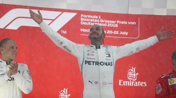 Хамилтън спечели Гран при на Германия