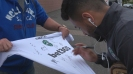 Фенове атакуват лудогорци за автографи и снимки в Белфаст