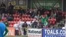 Български трибагреници на стадиона в Белфаст