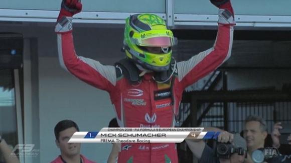 Шумахер-младши стана световен шампион във Формула 3