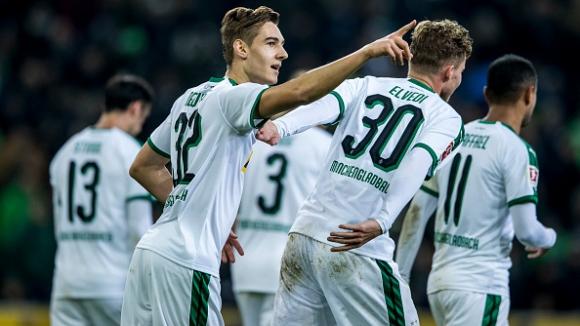 Борусия Мьонхенгладбах си върна второто място след победа над Щутгарт