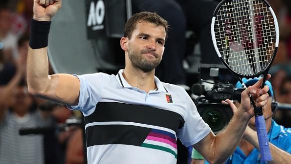 Убедителен Григор Димитров е на 1/8-финал на Australian Open