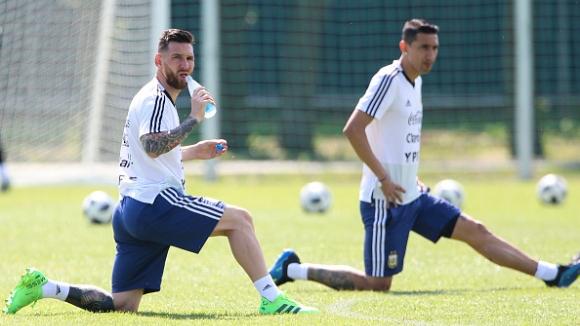 Меси отново тренира с националния отбор на Аржентина