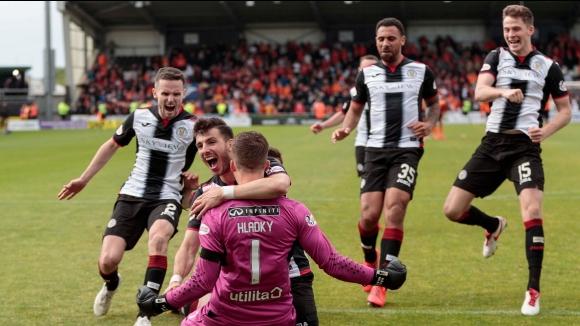 Сейнт Мирън остава в елита на Шотландия след успех с дузпи над Дънди Юнайтед