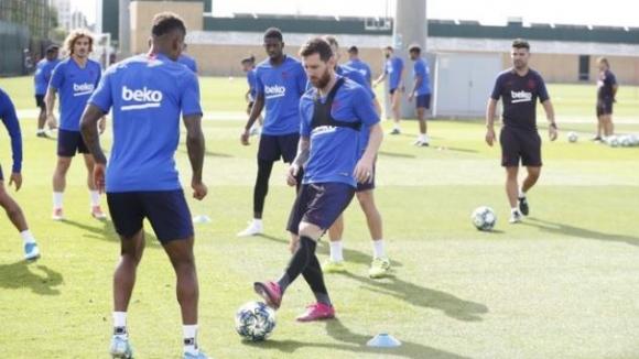 Меси и Фати тренират с Барселона