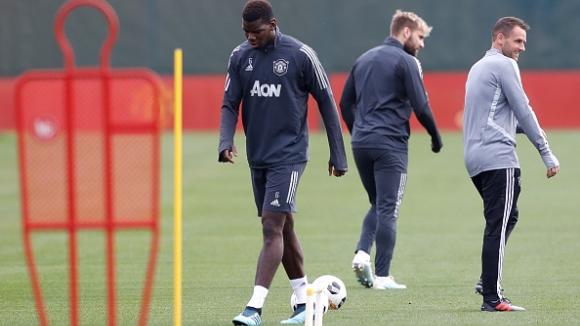 Погба пропусна отборната тренировка на Юнайтед