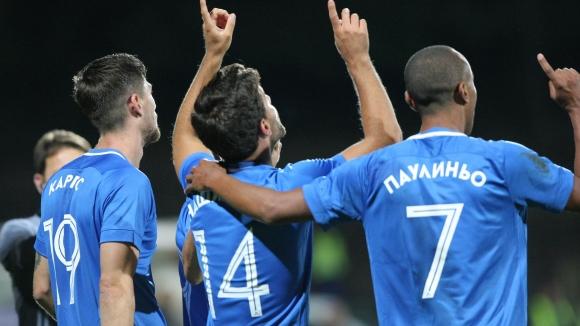 Великолепен гол на Нашименто проби отбраната на Славия
