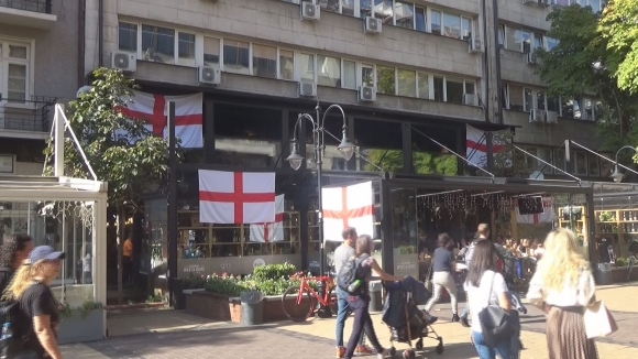 Английски знамена по Витошка