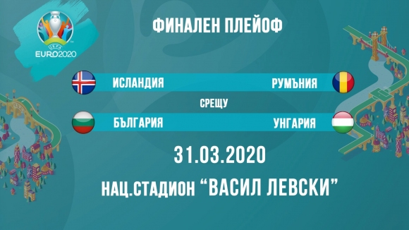 България срещу Унгария в полуфинален плейоф за Евро 2020, на финала чакат Исландия или Румъния