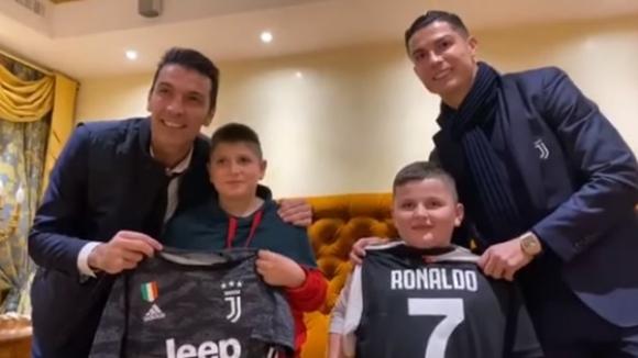 Роналдо и Буфон сбъднаха детска мечта