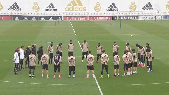 Минута мълчание в памет на Коби Брайънт на тренировката на Реал (М)