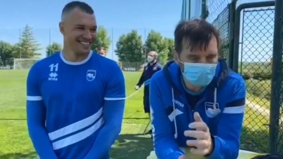 Божинов се забавлява на тренировка на Пескара