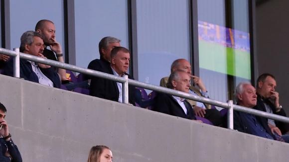 Трима бивши президенти на Левски в ложата на Герена