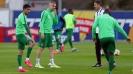 Левски и Лудогорец на терена преди дербито на елита