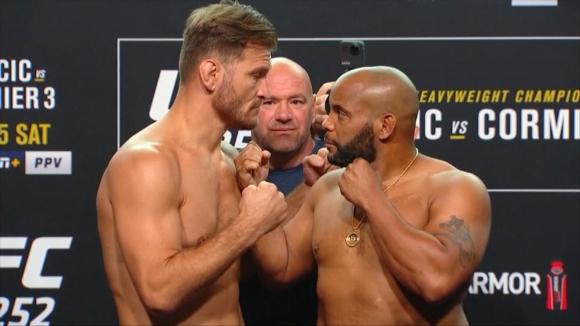 Кормие малко по-тежък от Миочич преди UFC 252
