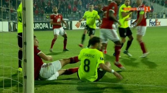 Отмениха гол на Клуж заради фаул в нападение на Докович