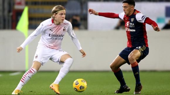 Златан донесе победата на Милан над Каляри