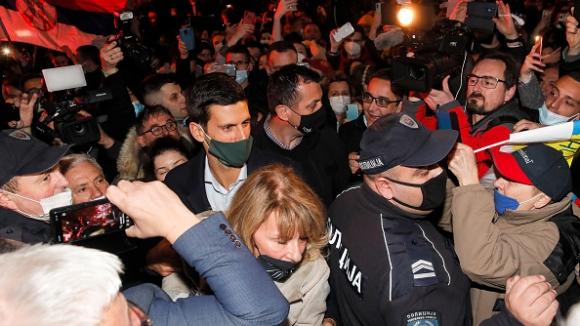 Джокович празнува в Белград